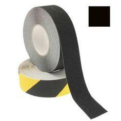 CINTA ANTIDESLIZANTE 50 mm X 18,3 m NEGRA  Las cintas antidelizantes son útiles en cualquier lugar donde haya peligro de caída. Ideales para evitar patinazos en escaleras, rampas, embarcaciones, escenarios, camerinos o cualquier otra superficie resbaladiza. Pueden utilizarse también en exteriores.