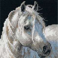 Dimensions Crafts Gentle Strength Horse Needlepoint Kit 7215 for sale online Cross Stitching, Cross Stitch Embroidery, Cross Stitch Patterns, Embroidery Thread, Loom Patterns, Knitting Patterns, Crochet Patterns, Plastic Canvas Crafts, Plastic Canvas Patterns