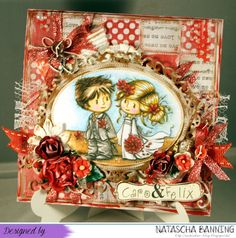 Wedding card using a digital image by Wee Stamps http://nataschas-blog.blogspot.de/2016/10/stampavie-and-more-challenge-271.html