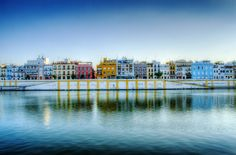 Calle Betis, Sevilla. My favorite street I went to at night..