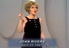 Joan Rivers on The Ed Sullivan Show - Joan Alexandra Molinsky (June 8, 1933 – September 4, 2014), known as Joan Rivers, was an American actress, comedian, writer, producer, and television host noted for her often controversial comedic persona — where she was alternately self-deprecating or sharply acerbic, especially toward celebrities and politicians.