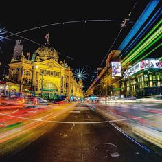 Flinders Street Station in #Melbourne by night. #Victoria #Australia #photographer #photooftheday #travel