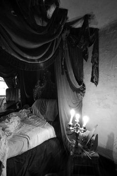 An Exquisite Paradox Gothic Room, Gothic House, Goth Home Decor, Bed Curtains, Home Decor Inspiration, Luxury Bedding, Making Ideas, Interior Decorating, Interior Design