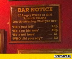 Important Bar Notice