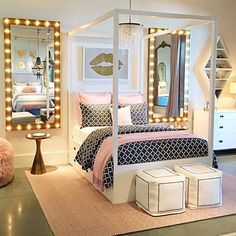 20 Of The Most Trendy Teen Bedroom Ideas | Mya's room ... on Trendy Teenage Room Decor  id=91838
