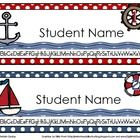 These cute nautical-themed name tags will really dress up your classroom. Saved in a Microsoft Word and Template formats so that you can download, ...