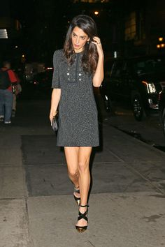 In Balenciaga during a girls' night out in New York City.