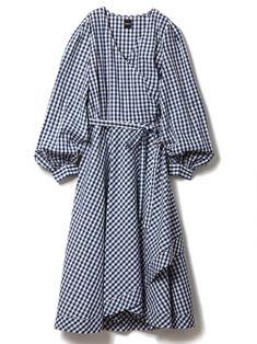 【ドロシーズ/DRWCYS】のラップギンガムワンピース レディースファッション・服の通販 founy(ファニー) ファッション Fashion レディース Women ワンピース Dress マキシワンピース Maxi Dress 関連、ワード Tags チェック ギンガム コンビ マキシ ロング インナーキャミ フェミニン ラップ ギンガムチェック ネイビー|ID:329100000037579