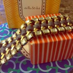 Brand New Stella & Dot Ribbon and Metal Bracelet Brand new Stella & Dot Ribbon and Metal bracelet. The mix of fabric, silver and gold metal makes this bracelet very unique. Bracelet comes with the original box (not pictured). Stella & Dot Jewelry Bracelets