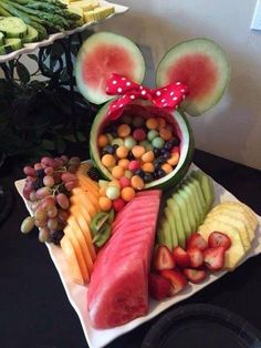 Fruit salad at a Minnie Mouse birthday party! See more party ideas at CatchMyPar.- Fruit salad at a Minnie Mouse birthday party! See more party ideas at CatchMyPar… Fruit salad at a Minnie Mouse birthday party! See more… - Minnie Y Mickey Mouse, Minnie Mouse Baby Shower, Disney Baby Showers, Mickey Mouse Snacks, Mickey Mouse Photo Booth, Minnie Mouse Favors, Minnie Mouse Party Decorations, Mickey Mouse Halloween, Mickey Mouse Parties