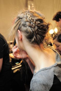 Backstage at Nicole Miller Spring 2014
