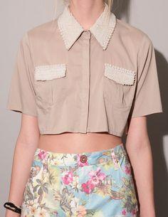 Cameo Pearl Crop Shirt