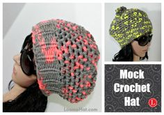 Mock Crochet Stitch Hat on a Knitting Loom FREE Pattern and Video