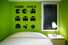 Arcade Game Over Vinyl Wall Decal Sticker Graphic