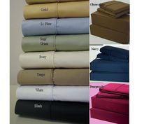 California King Percale 21 inch Super Deep Pocket 600TC 100% Egyptian cotton Sheet sets $139.99 www.scotts-sales.com