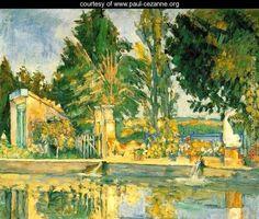 Jas De Bouffan  The Pool - Paul Cezanne - www.paul-cezanne.org