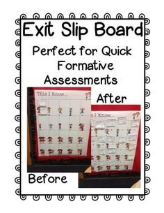 Free Exit Slip Board!
