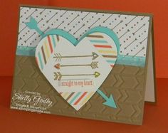 Handmade Valentine's Day card with the Stampin' Up! Love You More Stamp Set.  Love You More is available in my online store http://www.shopwithshelly.com through January 27, 2014 unless supplies run out first.