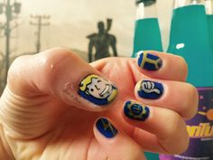 Fallout Mani Nail Art To Try Pinterest And