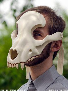 Etsy listing at https://www.etsy.com/uk/listing/208532386/canine-skull-mask-ii