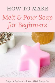 Ready to learn how to make melt and pour soap? This beginner's guide to making soap without lye, using the easy melt and pour soap method, will walk you step-by-step through making your first soap bars. No special tools needed, and NO LYE required. Create your own custom soap creations with the cheat sheet that shows you exactly the amount of fragrance, color, dried herbs to add to your bars. Pin to save, then click to sign up for the guide and learn how to make melt and pour soap for beginners. Making Soap Without Lye, Soap Making, Homemade Skin Care, Diy Skin Care, Handmade Soap Recipes, Lotion Recipe, Diy Lip Balm, Drying Herbs, Bar Soap