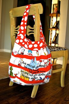 Cat in the Hat library bag Dr. Seuss