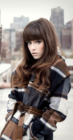 46 Ideas for hair waves bangs colour Long Hair With Bangs, Long Hair Cuts, Thick Bangs, Hair Bangs, Thick Hair, Hairstyles With Bangs, Pretty Hairstyles, Hairstyle Names, Long Layered Haircuts