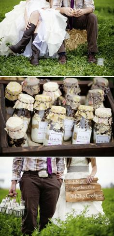 we go together like milk and cookies! such a cute wedding idea!