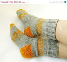 Hey, I found this really awesome Etsy listing at http://www.etsy.com/listing/120673579/winter-sale-hand-knit-socks-grey-yellow
