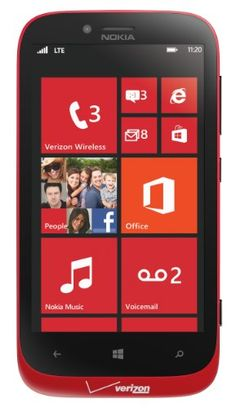 Mobile Phones + Service Plans + Wireless Accessories | National Phone » Nokia 822 4G Windows Phone, Red (Verizon Wireless)