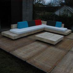 Loungeset 'cuba' in accoya hout 3