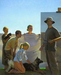 """The Artist's Family,"" Jeffrey T. Larson, Oil on canvas, 56 x 64 in., 2008"