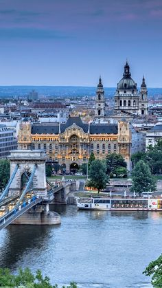1080x1920 Wallpaper budapest, hungary, szechenyi chain bridge, river, danube, city, architecture, nature