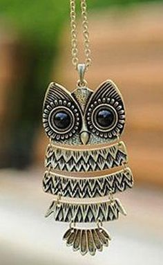 Cute Owl Necklace //