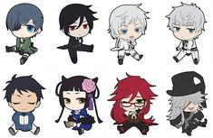 AmiAmi [Character & Hobby Shop] | Black Butler: Book of Murder - Petanko Trading Rubber Strap 8Pack BOX(Pre-order)