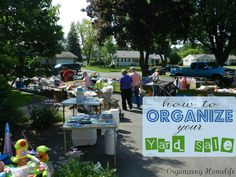 How to Have a {Very} Successful Yard Sale ~ Organizing Your Sale & Other Tips - Organizing Homelife