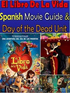 This 115+ page EDITABLE Spanish movie guide is an excellent addition to all Spanish classes! El Libro de la Vida is the perfect movie to teach the Day of the Dead and Mexican culture. Students of all levels love this movie because it is animated, the Spanish is easy to understand, and the story is touching and funny!