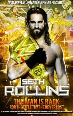 Seth Rollins Poster By Me by RehanKhan720 on DeviantArt Wwe Seth Rollins, Seth Freakin Rollins, Hindi Movie Film, Hindi Movies, Clash Of Champions, Wwe Superstar Roman Reigns, Wrestling Wwe, Becky Lynch, Professional Wrestling
