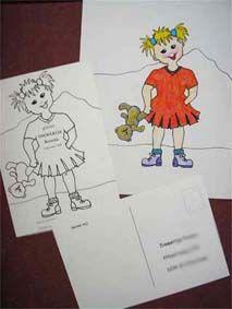 geboortekaart meisje kleurplaat door Lida Meines