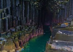 Fingal's Cave, located on the Scottish island of Staffa, is a 270-foot-deep, 72-foot-tall sea cave with walls of perfectly hexagonal columns...