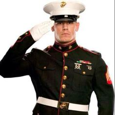 John Cena in a marine uniform....;) excuse me while i pass out