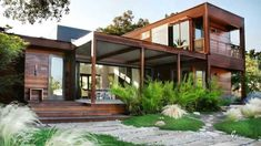 Container House - shipping container homes exterior - Google Search - Who Else Wants Simple Step-By-Step Plans To Design And Build A Container Home From Scratch? #ShippingContainerHomePlans
