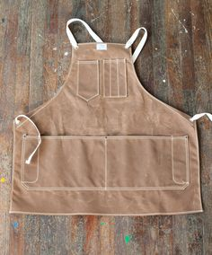 No. 325 Artisan Apron in Rust Waxed Canvas & Cotton Tape. $98.00, via Etsy - 29 inches tall - 29.5 inches wide .