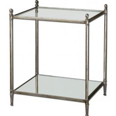 Uttermost - 24282 - Gannon Mirrored Glass End Table @ Lamps.com