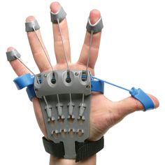 The Hand Fitness Trainer. - Hammacher Schlemmer - A recipient of the prestigious Medical Design Excellence Award, this is the hand fitness trainer that can slow the progression of osteoarthritis and mitigate the effects of repetitive-motion injuries in the hands.