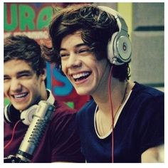 Liam and Harry:) their smiles are so cute it's not even fair they look so happy<3
