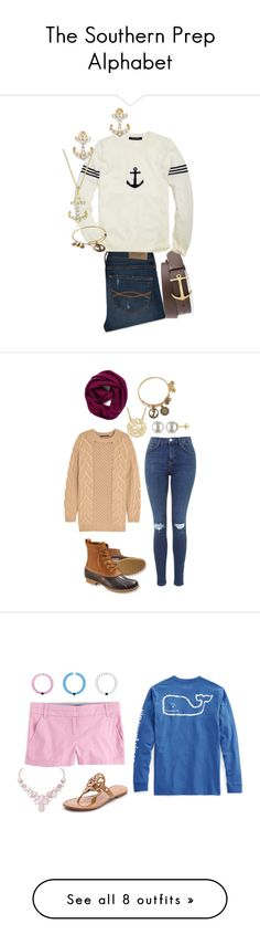 """""""The Southern Prep Alphabet"""" by clarebear1022 on Polyvore featuring Abercrombie & Fitch, Brooks Brothers, KC Designs, Alex and Ani, Agnona, L.L.Bean, Miadora, Halogen, J.Crew and Vineyard Vines"""