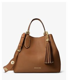 Get one of the hottest styles of the season! The MICHAEL Michael Kors Brooklyn Large Satchel Acorn Pebbled Leather Tote is a top 10 member favorite on Tradesy. Tote Bags, Tote Handbags, Purses And Handbags, Red Purses, Cheap Handbags, Brown Handbags, Popular Handbags, Brown Purses, Michael Kors Tote