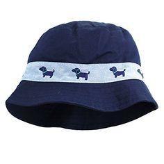 d5d24bfb9b7 Little Me Safari Outdoor Twill Bucket Infant Boys Sun Hat Navy Blue 12-24  Months