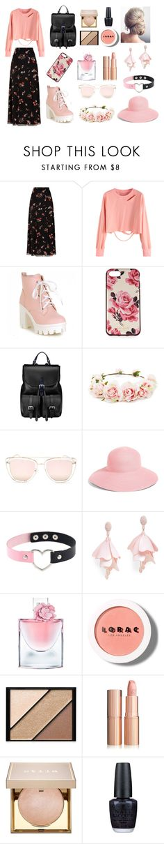 """Untitled #150"" by nirvanaopancar ❤ liked on Polyvore featuring RED Valentino, Kate Spade, Aspinal of London, Forever 21, Quay, Eric Javits, Oscar de la Renta Pink Label, Lancôme, LORAC and Elizabeth Arden"